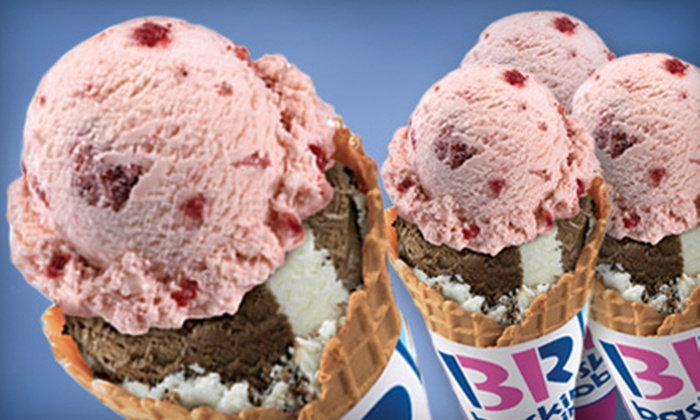 Baskin-Robbins - Riverpark Shopping Center: 5 or 10 Groupons, Each Good for a Single-Scoop Cup or Cone or Two-Scoop Sundae at Baskin-Robbins (Up to 55% Off)