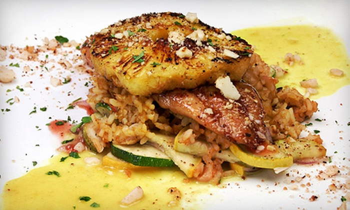 Bottomzup Bar and Grill - Carle Place: American Food for Dinner with Drinks for Two or Four at Bottomzup Bar and Grill (Up to 65% Off)
