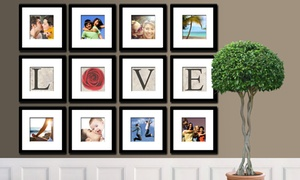 "Imagine Squares: Eight Fine Art Prints of Your Choice and ""LOVE"" Print With or Without Frames from Imagine Squares (Up to 90% Off)"