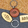 Personalized Wood Key Chains