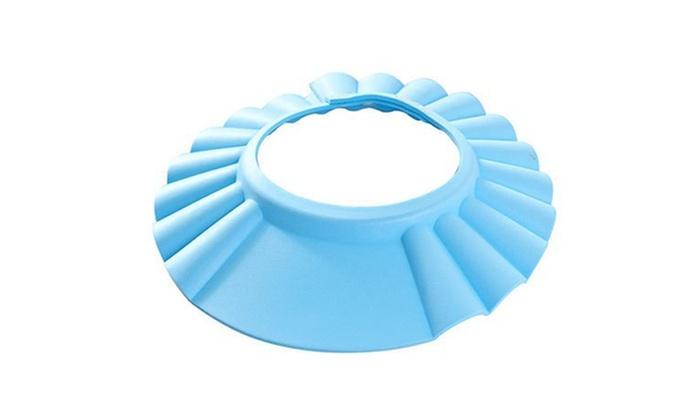 adjustable baby shower cap and face shield groupon. Black Bedroom Furniture Sets. Home Design Ideas