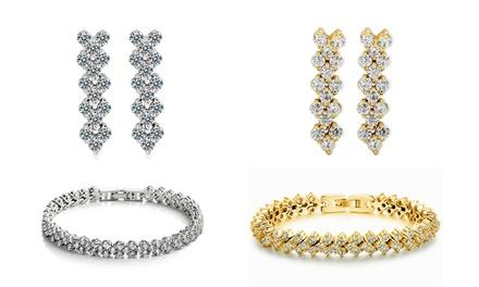 Brincos, pulseira ou conjunto de brincos e pulseira Princess desde 12,99€