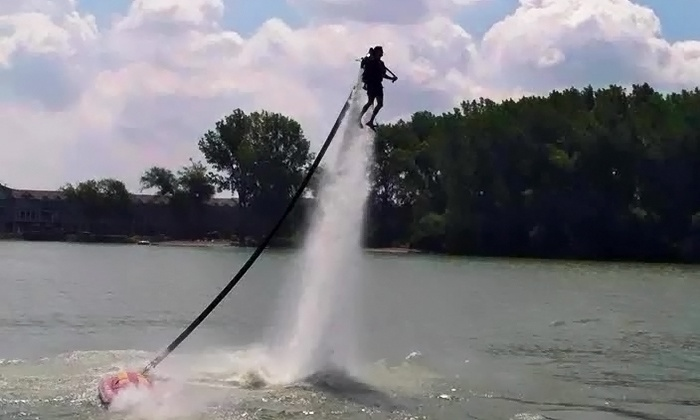 Jet Pack Water Adventures - Multiple Locations: 45-Minute Jetpack or Flyboard Experience for One or Two People at Jet Pack Water Adventures (Up to 53% Off)
