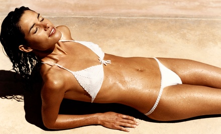 One or Three Full-Body Organic Airbrush Tans at Sun In A Gun Tanning (Up to 52% Off)