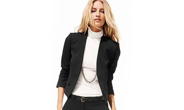 blazer court pour femme groupon. Black Bedroom Furniture Sets. Home Design Ideas