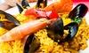 Los Porches - Los Porches: Arroz con carabineros para 2 o 4 con aperitivo, entrante, postre y botella de vino desde 29,95 € en Los Porches