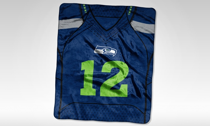 NFL Seattle Seahawks 12th Man Jersey Raschel Throw  06f664f50