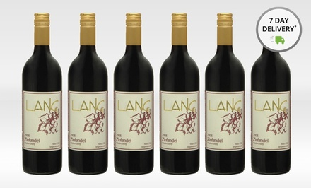 6 Bottles of Lang Zinfandel