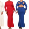 Women's Plus Size Embellished Cuff Gown