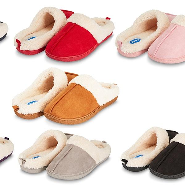 89c8aa797bd0 Floopi Women s Indoor Outdoor Fur Lined Clog Slippers with Memory Foam