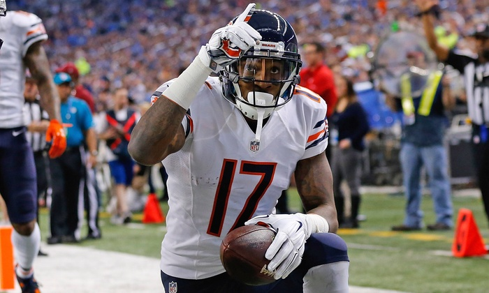 Sideline Marketing - The Marketplace at Vernon Hills: Photo Op with Alshon Jeffery and a Signed Photo or Bears Logo Football from Sideline Marketing (Up to 51% Off)