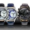 Bernoulli Odin Men's 3-Time-Zone Chronograph Watch