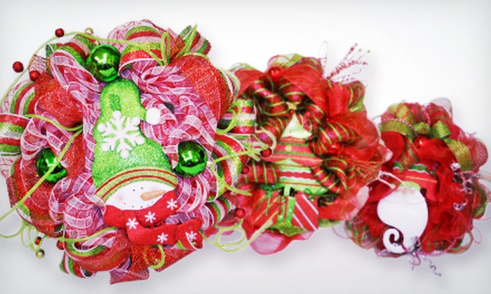 Ellis Home and Garden - Bossier City: $29 for a Mesh-Wreath-Making Class and Supplies at Ellis Home and Garden ($60 Value). 10 Dates Available.