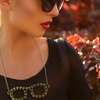 Spiked Glasses Pendant with Antique Gold Overlay