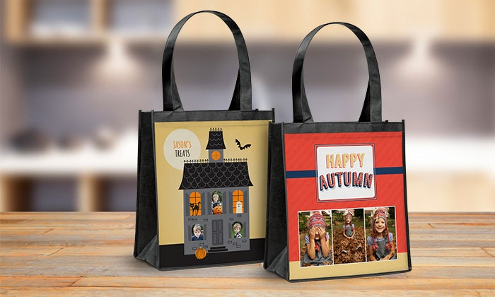 personalized reusable shopping bags from york photo groupon
