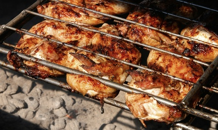 Dine-In Portuguese Pitt Barbecue Chicken Meal with Sangria for Two at Haledon BBQ & Tap House (Up to 49% Off)