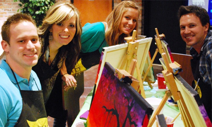 The Thirsty Brush - Multiple Locations: One 2.5-Hour Social Painting Class for One or Two at The Thirsty Brush (Up to 46% Off)