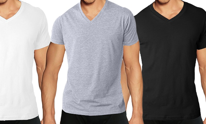 Soft Cotton Blend V-Neck Undershirts (3-Pack)