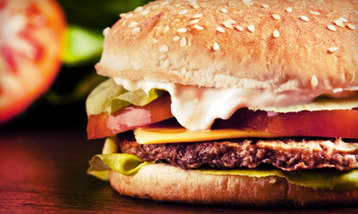 Famous Hamburger - Astoria: Burger Meal with Appetizer and Beverages for Two or Four at Famous Hamburger (Up to 57% Off)
