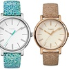 Timex Women's Mosaic Leather-Strap Watches