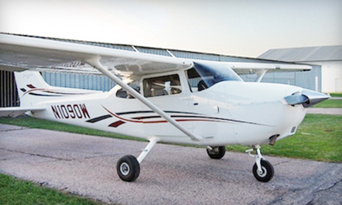 Sioux Falls Flight School - Sioux Falls: One-Hour On-Ground Flight Lesson and One-Hour Flight for One or Two at Sioux Falls Flight School (Up to 68% Off)