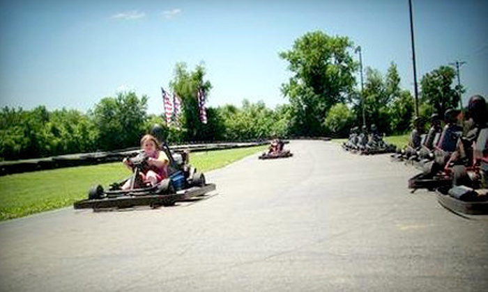 Boschertown Grand Prix Racing - St Charles: $24 for Four Five-Lap Go-Kart, Sprint-Kart, or Double-Seater Races at Boschertown Grand Prix Racing (Up to $60 Value)
