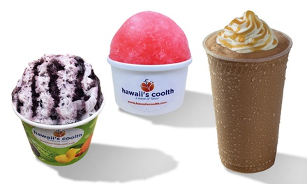 Two or Three Groupons, Each Good for $6 Worth of Shaved Ice and Other Treats at Hawaii's Coolth (Up to 44% Off)