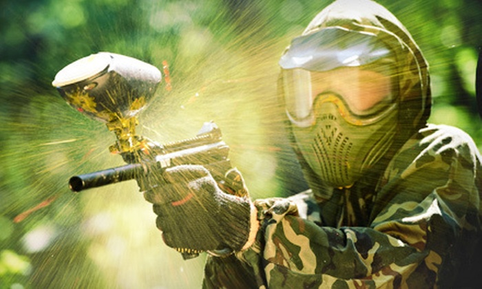 Randolph Paintball - Multiple Locations: Half Day of Paintball with 200 Paintballs and Equipment Rental for One or Four at Randolph Paintball (Up to 58% Off)