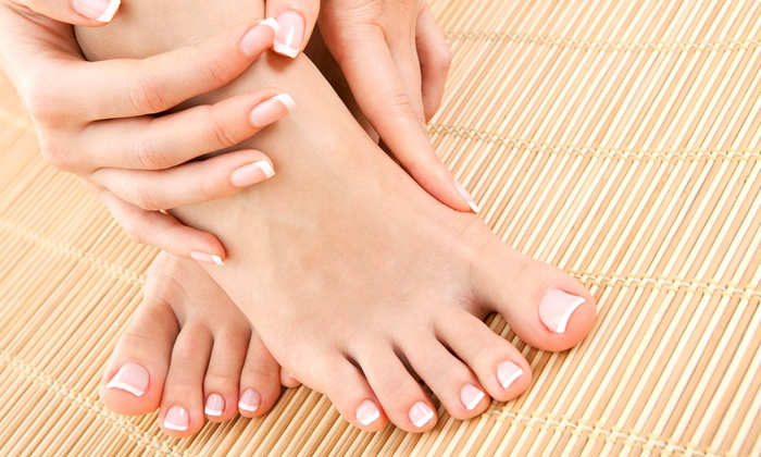 Hair Shop - Gloucester: Two or Four Mani-Pedis at Hair Shop (Up to 63% Off)