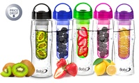 One or Two Fruit Infusing Bottles in Choice of Colour from £2.99 (80% Off)