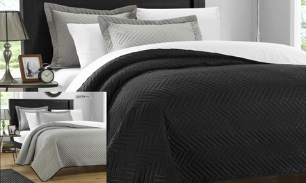 2- or 3-Piece Leona & Portobello Reversible Quilt Set