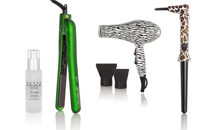 The Ideal R-Beauty Bundles with Options with Hair Dryer, Flat Iron, Curling Iron, or Hair Serum from $44.99—$69.99