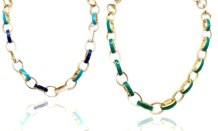 Gold-Plated and Enameled Necklaces and Bracelets: Gold-Plated and Enameled Jewelry. Multiple Styles & Colors Available from $14.99 from $17.99. Free Shipping & Returns.