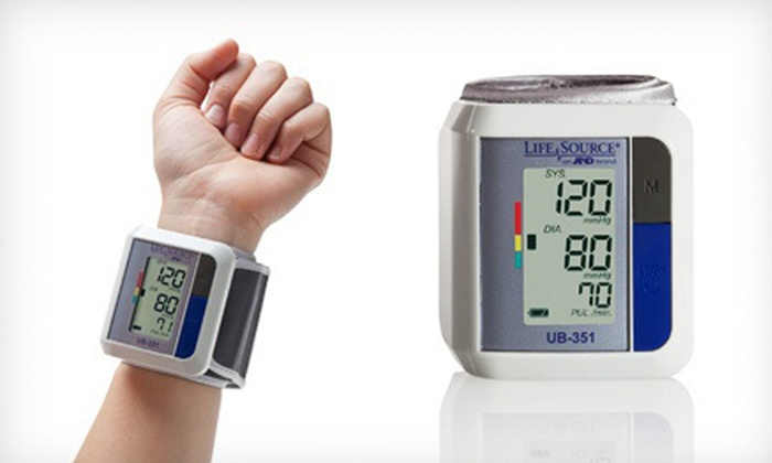 LifeSource Automatic Wrist Blood-Pressure Monitor: $24.99 for LifeSource Automatic Wrist Blood-Pressure Monitor ($59.95 List Price). Free Shipping and Returns.