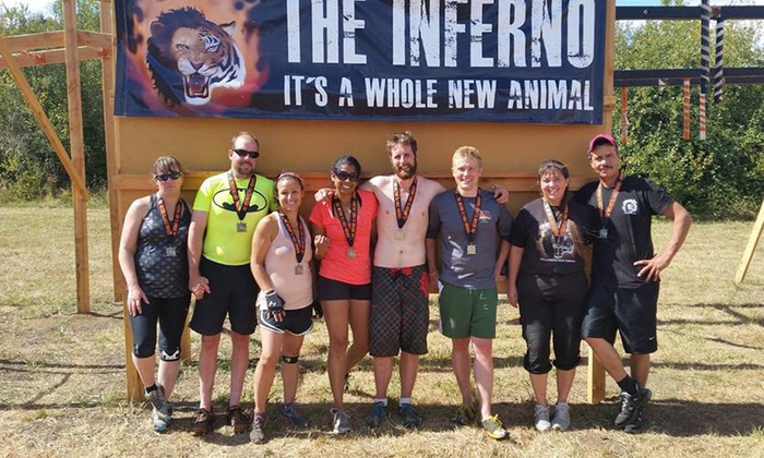 The Inferno LLC - Salem: The Inferno LLC 3-4 Mile Obstacle-Race Registration for One or Two on Saturday, September 19 (Up to 50% Off)