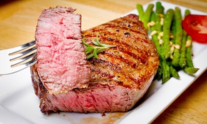 Oaki Steakhouse: Pan-Asian Food for Dinner or Lunch at Oaki Steakhouse (Up to 43% Off). Three Options Available.