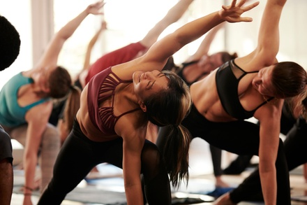 $28 for One Month of Unlimited Yoga Classes at Down Dog Yoga ($175 Value).