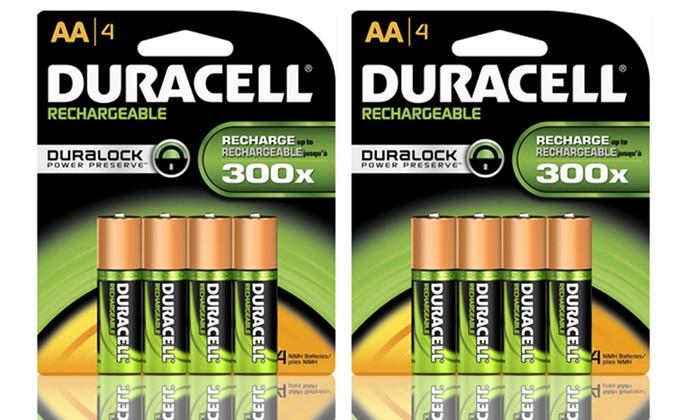 Duracell Duralock Rechargeable AA Batteries: Duracell Duralock Rechargeable AA Batteries. Free Returns.
