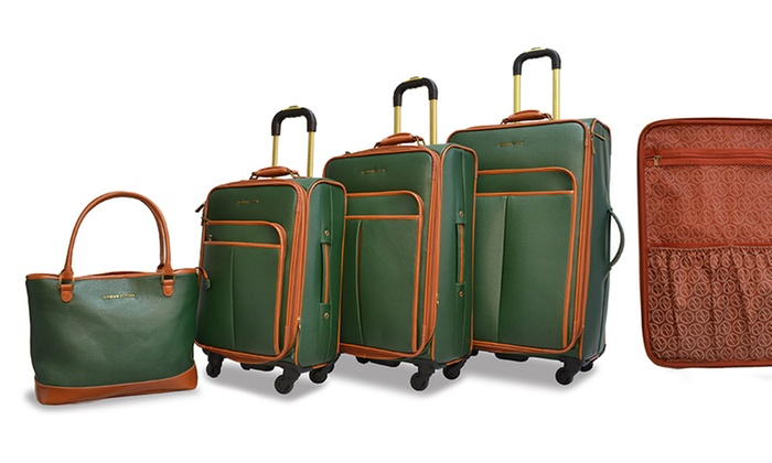 Adrienne Vittadini Luggage Set | Groupon Goods