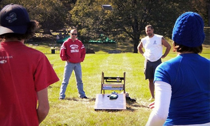 Indy Custom Cornhole - Augusta - New Augusta: Rental of Three or Five Cornhole Boards with Bags and One or Two Washers from Indy Custom Cornhole (Up to 55% Off)