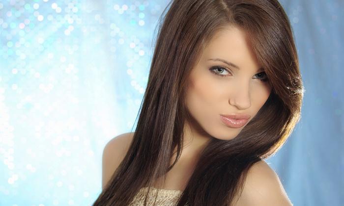 Anim Hair & Beauty Studio - Downtown: Men's Haircut Package, or Women's Haircut Package with Optional Highlights at Anim Hair & Beauty Studio (Up to 76% Off)