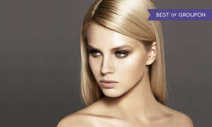 The W Salon & Spa: Haircut and Color Packages or Keratin Treatment at The W Salon, Spa, and Nail Bar (Up to 62% Off). Four Options.