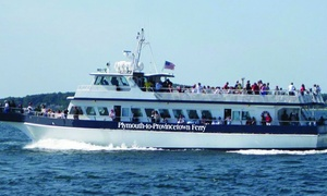 Provincetown Ferry: $27 for Admission for One on Plymouth-to-Provincetown Ferry from Provincetown Ferry (Up to $45 Value)