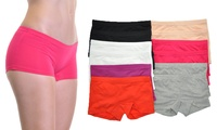 GROUPON: Angelina Women's Cotton Boxer Shorts (12-Pack) Angelina Women's Cotton Boxer Shorts (12-Pack)