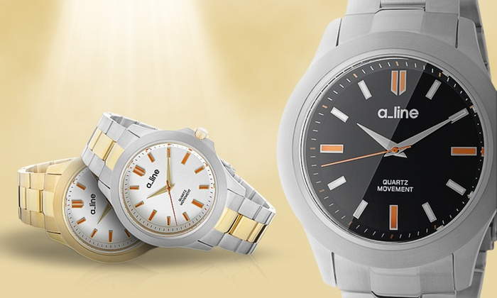 a_line GRA Women's Watches: a_line GRA Women's Watches in Silver-Tone/Black, Gold-Tone/Silver, or Two-Tone/Silver. Free Shipping and Returns.