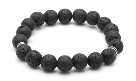 Braccialetto con perle di lava