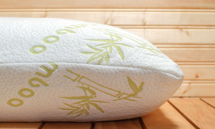 Memory Foam Bamboo Pillows Groupon