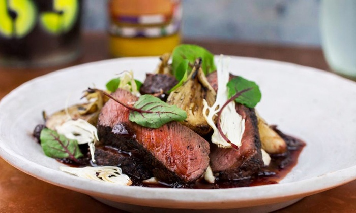 Comun Kitchen & Tavern - East Village: $49 for Zagat-Rated Cuisine for Two at Común Kitchen & Tavern ($73 Value). Groupon Reservation Required.