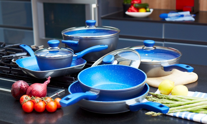 Six Piece Flavorstone Pan Set Groupon Goods