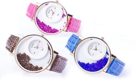 Relógio feminino Dazzler disponível em diferentes cores por 14,99€